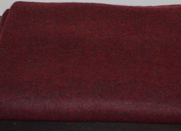 Burgundy and Charcoal Reversible Cashmere Blanket/Throw