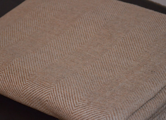 Ecru and Ivory Cashmere Blanket