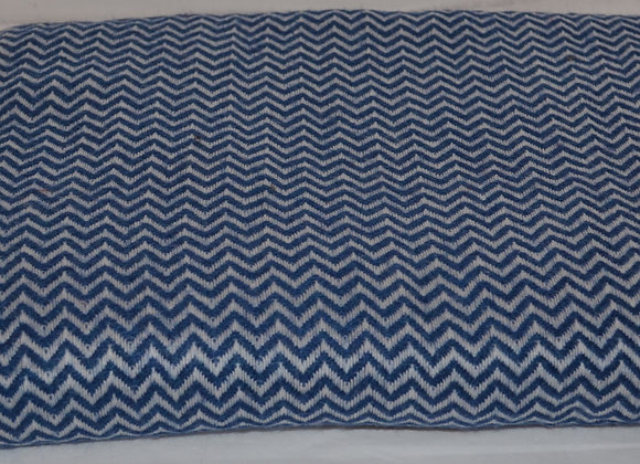 Midnight Blue and Oyster Cashmere Blanket/Throw
