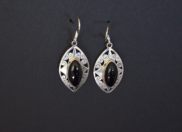 Sterling silver Onyx - India