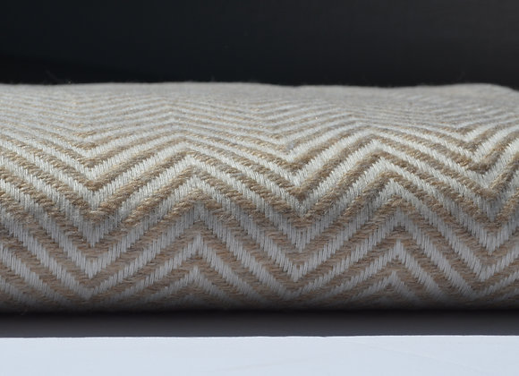 Straw And Ivory Cashmere Blanket/Throw