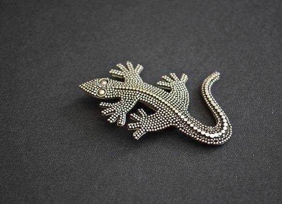 Sterling Silver Gecko Pin- Bali