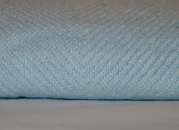 Soft Light Blue and White Cashmere Blanket/Throw