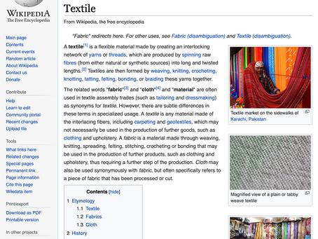 Craft and Wikipedia