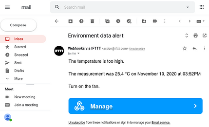IFTTT email
