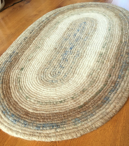 Spiral Felted Rug in Various Colors