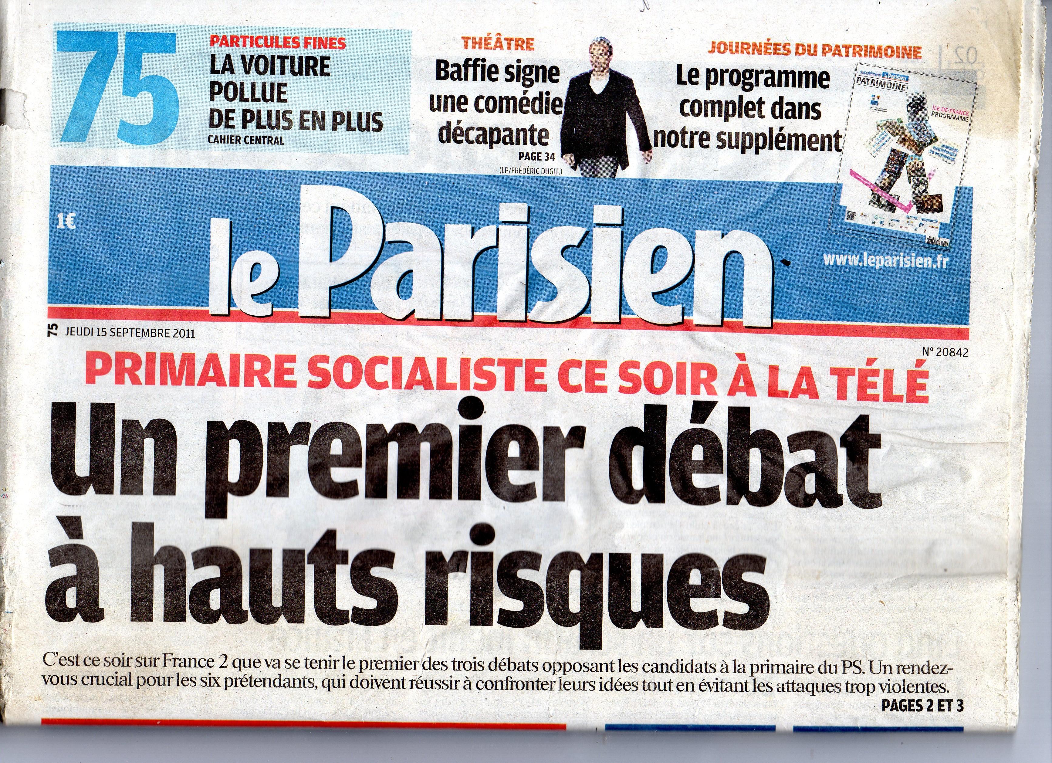 LE PARISIEN SEPT 2011