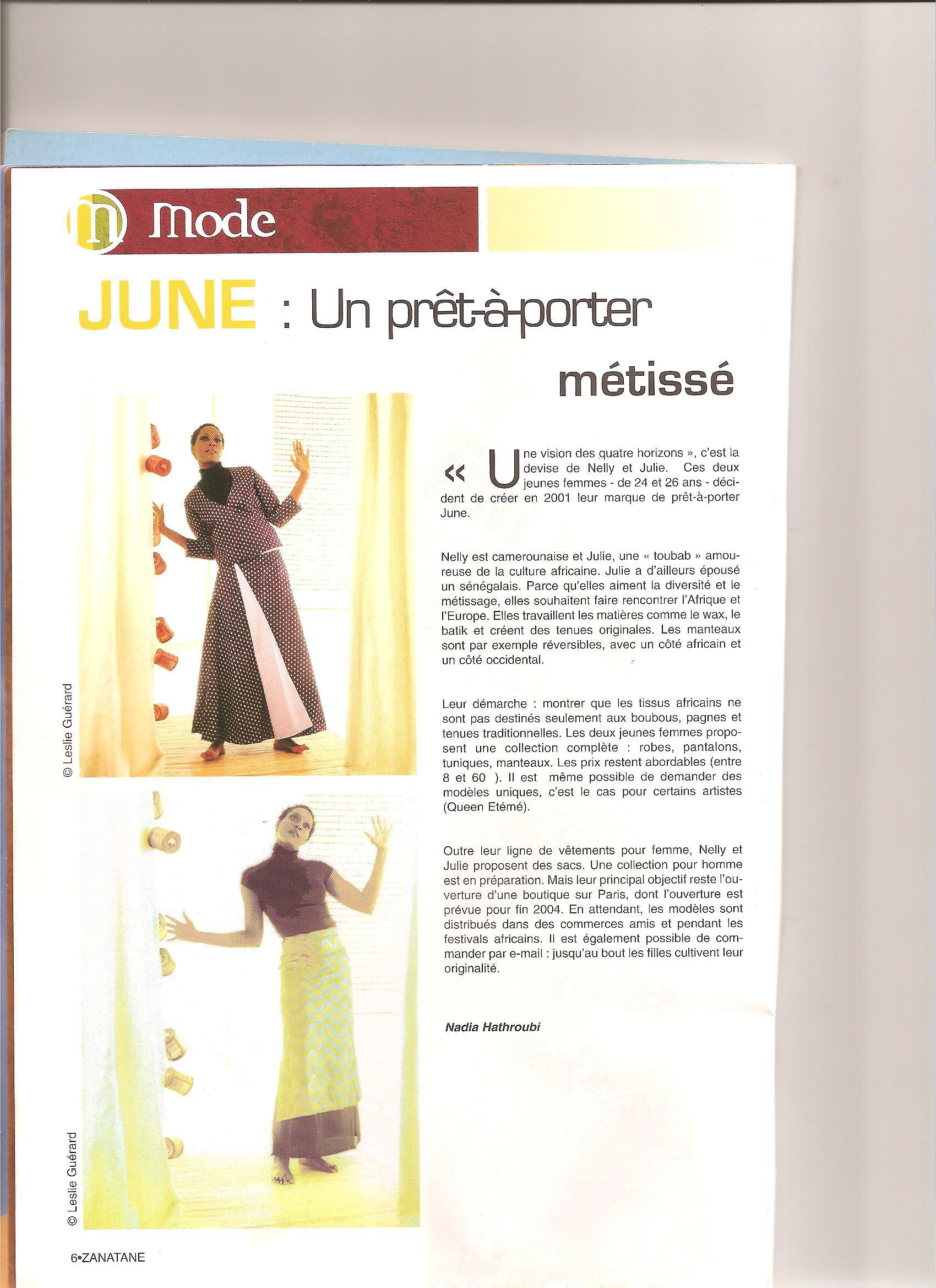 ZANATANE MAI 2003