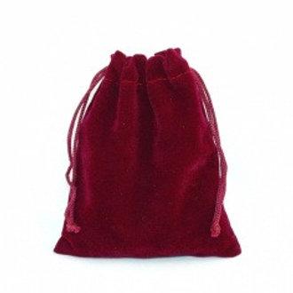Мешочек из бархата - бордовый 10х12 см