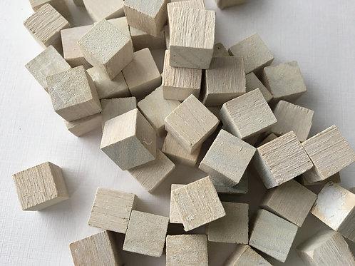 Кубик  белый   10 мм