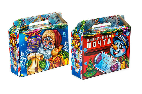 Новогодняя упаковка «Почта» на 1,5 кг
