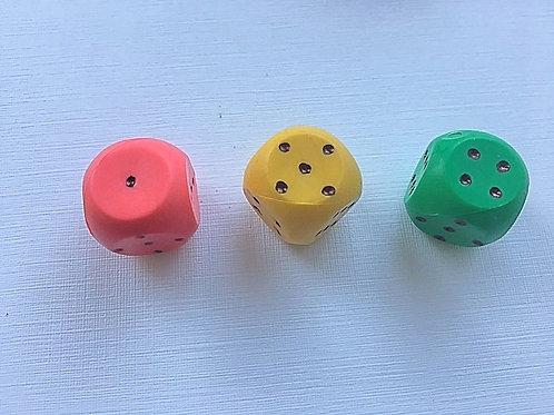 Кубик цветное ассорти 16 мм