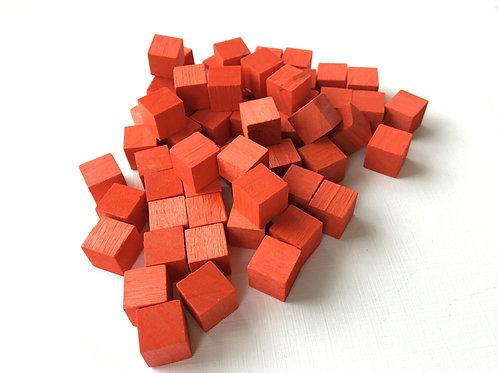 Кубик  красный  10 мм