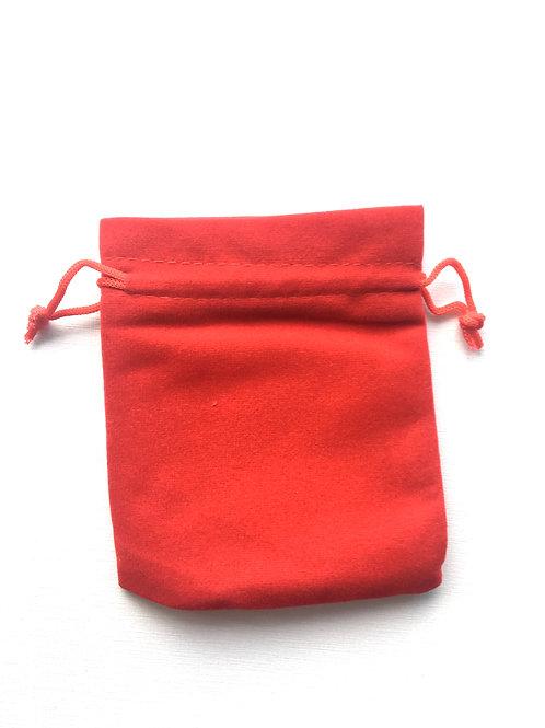 Мешочки бархатные красные 10х12 см