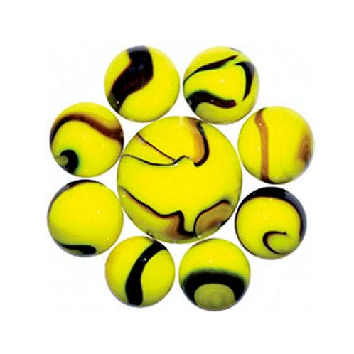 Марблс желтые-зигзаги 16/25 мм