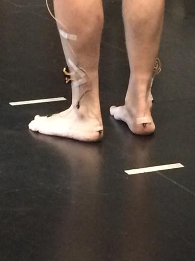 Feet of Participant / Sensors