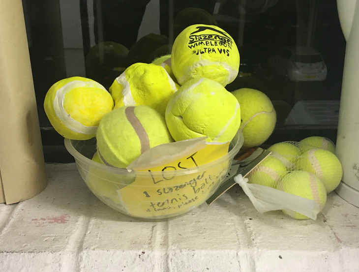 Assorted tennis balls, 2019