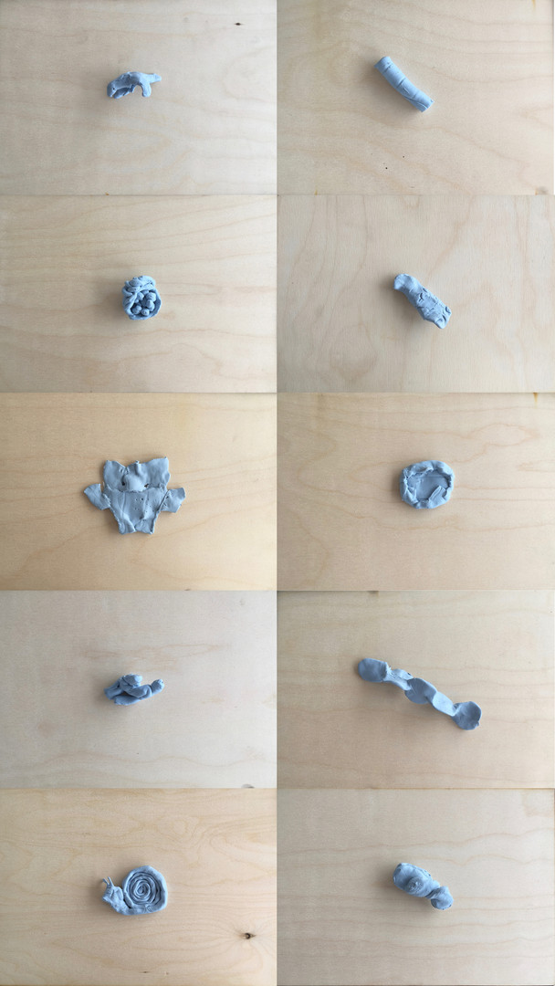 Bluetack sculptures