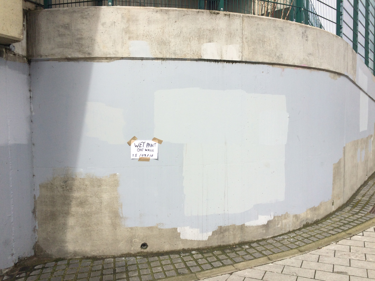 Wet Paint on Wall (Underpass), 2018
