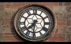 Clockface on Gifford Town Hall