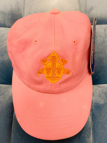 Pink and yellow Dad hat