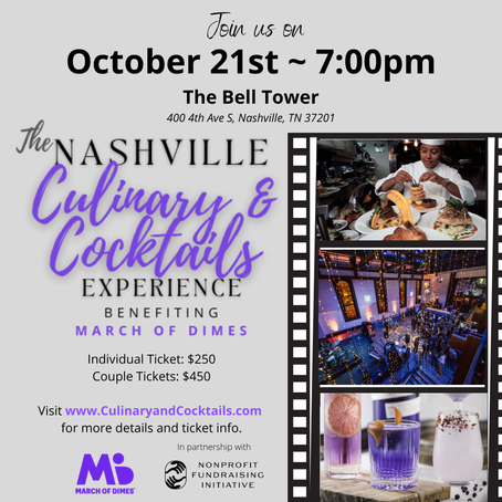 Nonprofit Fundraising Initiative to Host Unique Chefs Event at The Bell Tower to Raise Funds