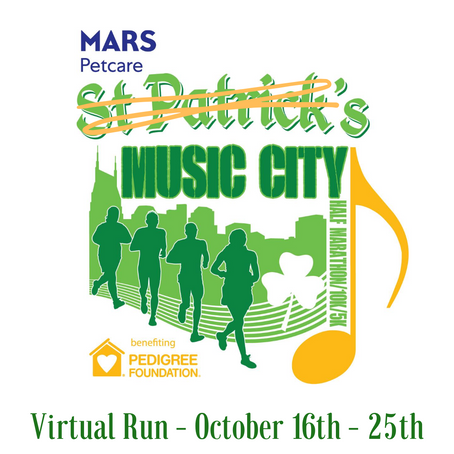 Mars Petcare 14th Annual St. Patrick's Music City Run To Go Virtual this October