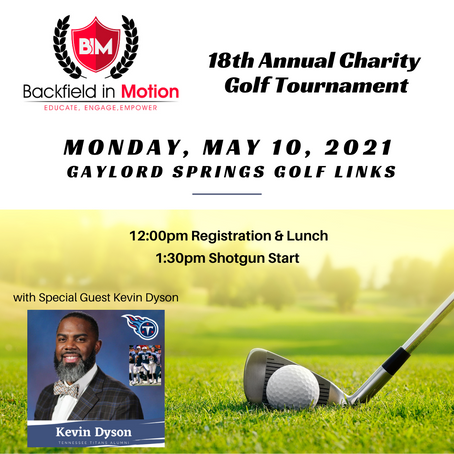 Backfield in Motion to Host 18th Annual Charity Golf Tournament on Monday, May 10th