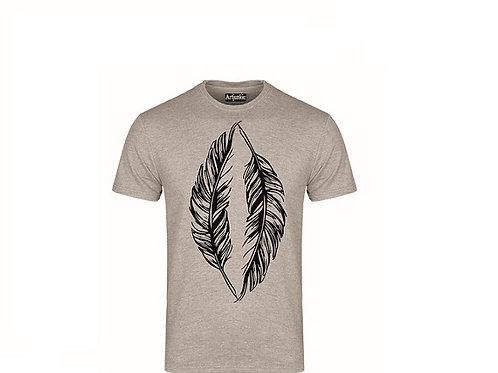 Artjunkie Grey feather Tshirt