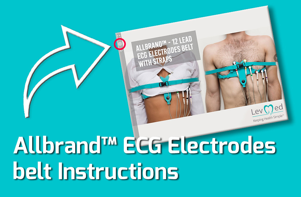 Levmed's Allbrand™ ECG Electrodes belt Digital Instructions for Use (IFU) are available in 9 different international languages