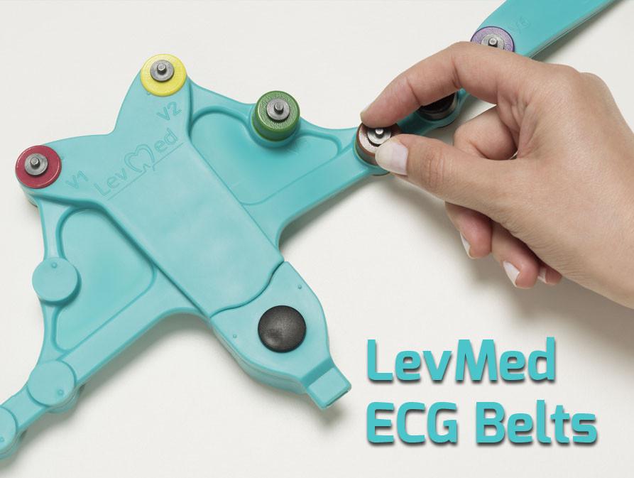 Levmed 12 Lead ECG Electrodes Belt use of high-performance compounds