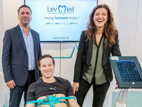 Levmed ECG Electrodes belt at Medica 2019
