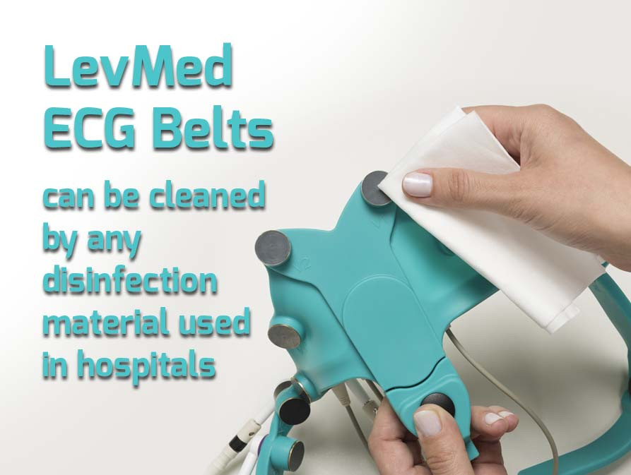 Our ECG Belts are very easy to clean and sanitize, and can be cleaned by any disinfection material used in hospitals for cleaning medical devices