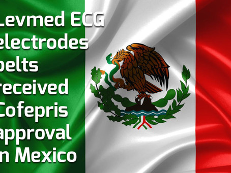 Levmed ECG electrodes belts received Cofepris approval in Mexico