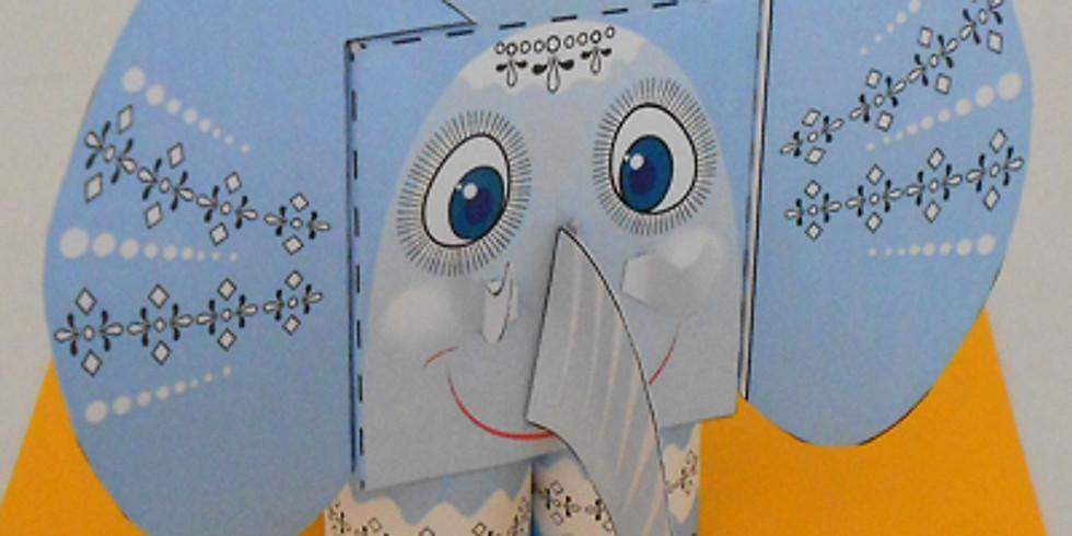 """Atelier """"Jucarii din carton""""- Elefant (7-10ani)"""