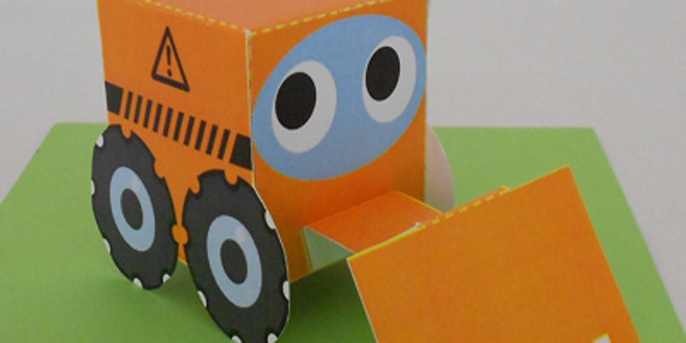 """Atelier """"Jucarii din carton""""-Buldozer (7-10ani)"""