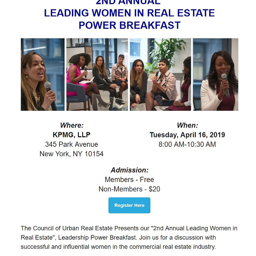 SOLD OUT- 2nd Annual Leading Women in Real Estate