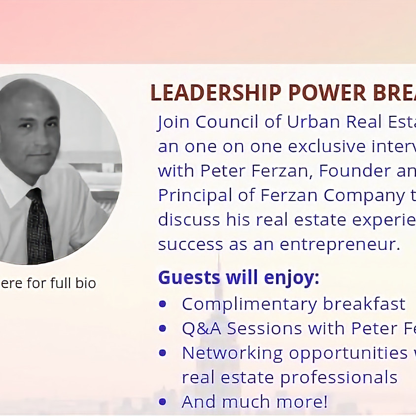 Leadership Power Breakfast featuring Peter Ferzan