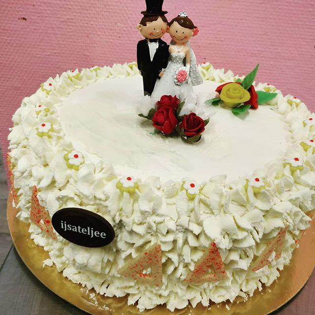 Wedding ice cream cake #ijs #ijstaart #i