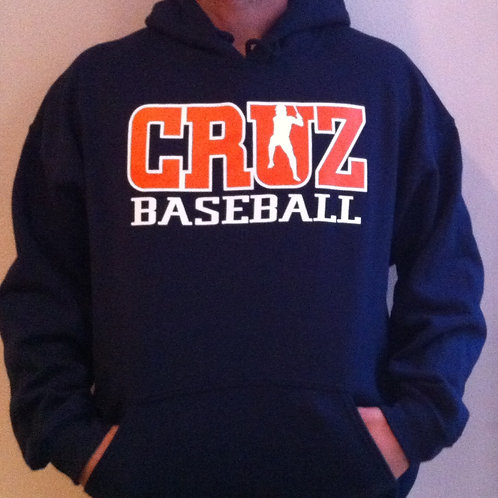 Cruz Baseball Navy Hoodie