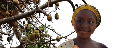 African villagers and their baobab