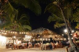 celebrating at Banana Beach