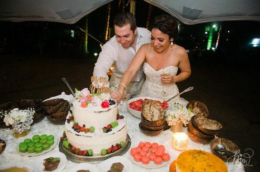 Happy Bride and Groom in Santa Teresa