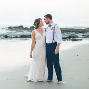 Happily married at Banana Beach