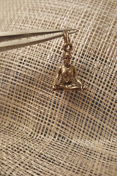 Yoga Woman Charm/Pendant Silver