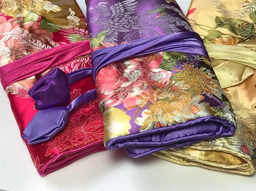 Designer Silk Jewelry Rolls
