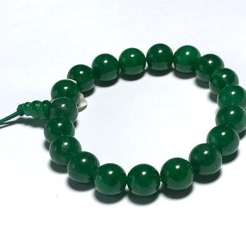 Green Jade 10mm Stretch Bracelet