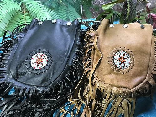 Boho style Fringe Snap Suede Leather Handbag