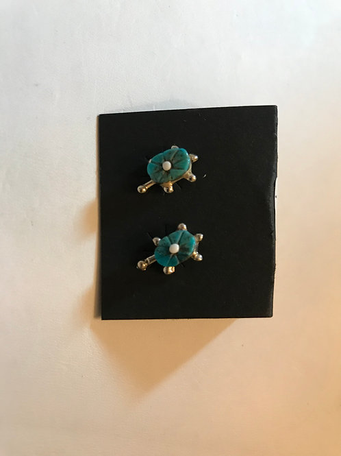 Zuni Turquoise Hand -Carved Turtles