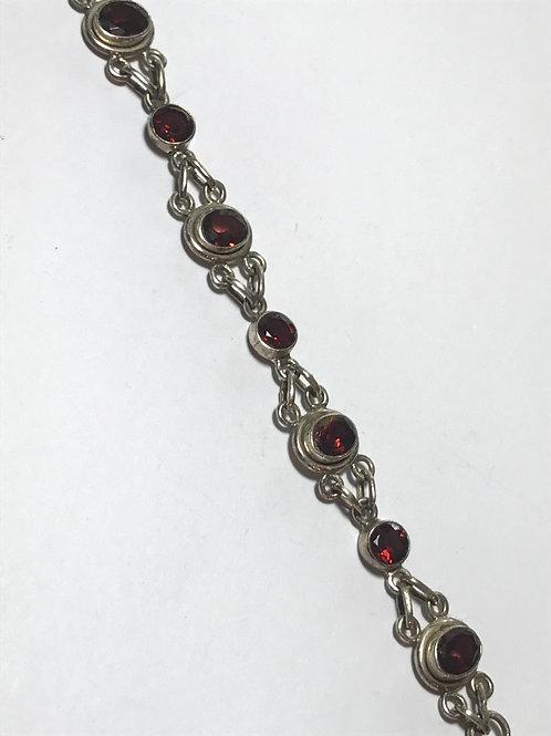 Bright Garnet Gemstone XOX Bracelet